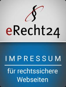 eRecht24-Siegel Impressum